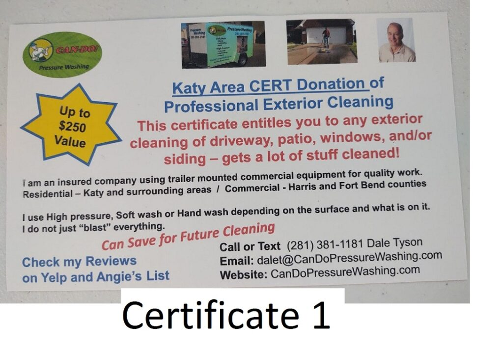 Exterior Cleaning Certificate